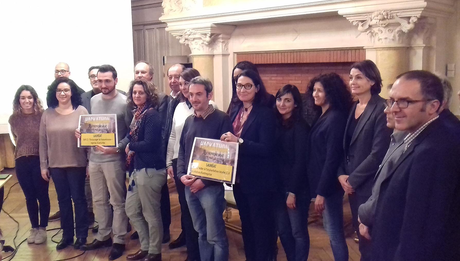Lauréats Hackathon - L'entrepreneuriat facilité par la donnée