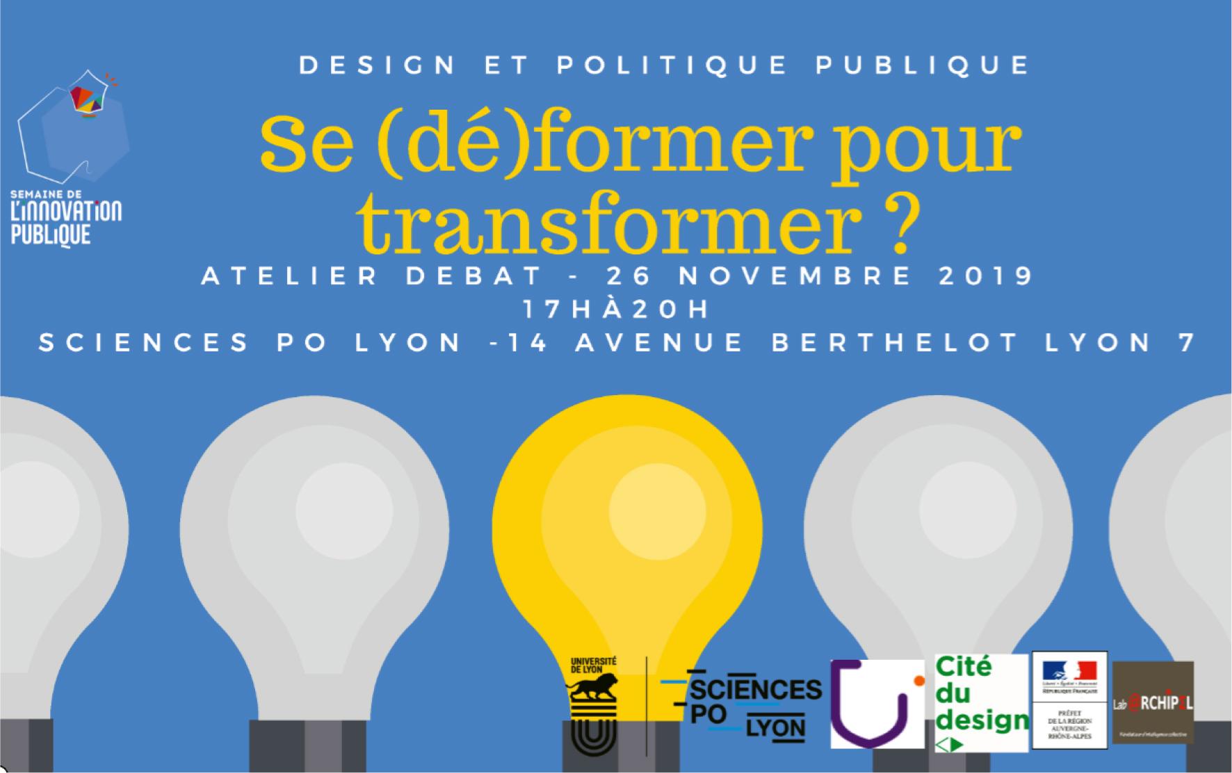 Design et politique publique : Se (dé)former pour transformer